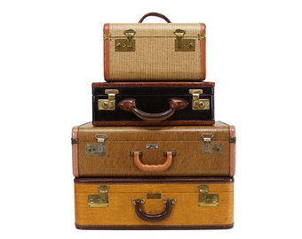 Vintage Tweed Suitcase