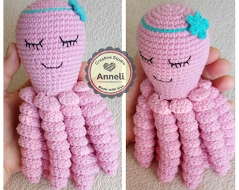 Crochet Octopus/ Octopus Preemie/ Octopus Toy/ Amigurumi octopus/ Octopus Plush/Stuffed Animal/Cute Octopus/ Octopus girl/ Amigurumi