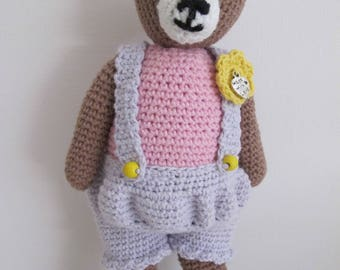Crochet Small Teddy Bear;  Amigurumi Bear; Crochet Teddy; Stuffed Animal
