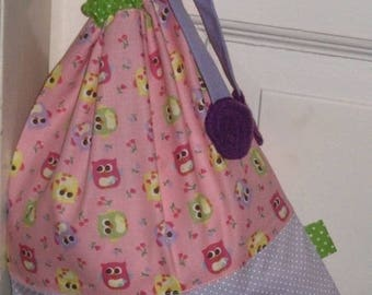 Bag pouch - pink / green /parme