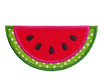 """Watermelon Slice Watermelon Appliques Machine Embroidery Designs Applique Patterns in 4 sizes 3"""", 4"""", 5"""" and 6"""""""
