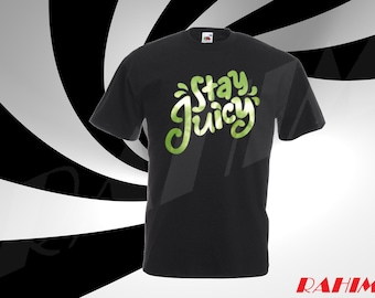 Guava Juice Stay Juicy Green Chrome logo limited youtuber, Adult T-shirt