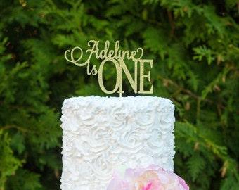 Personalized Birthday Cake Topper, Birthday Cake Topper, Age Cake Topper, 1st Birthday Cake Topper, Cake Smash, Custom Birthday Topper