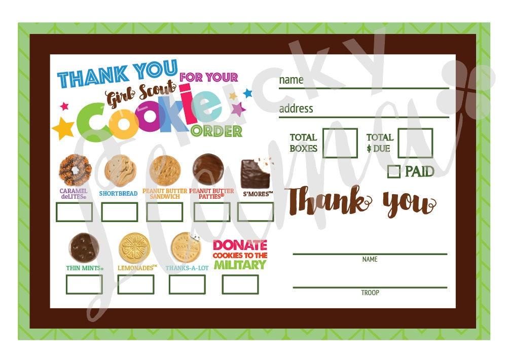 Wild image within girl scout cookies order form printable