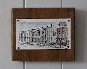Original Watercolour + Ink Painting - Old Buildings