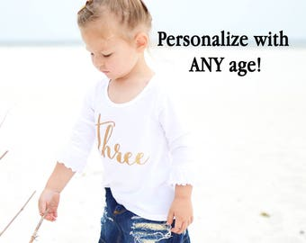 One year old girl birthday outfit - First birthday girl outfit  Baby girl 1 year old shirt  1st birthday shirt  One year outfit long sleeve