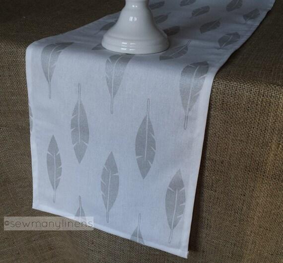 Silber grau Tisch Läufer Metallic silbernen Feder Tabelle
