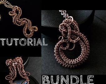 Wire Tutorial Bundle - Wire Wrapped Jewelry Tutorial - Jewelry Tutorials - Wire Woven - pdf - digital download - DIY Jewelry Making Ideas