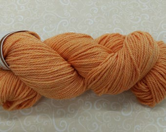 Shepherd's Wool - Worsted Spun Fine Wool - color #070916 Cantaloupe