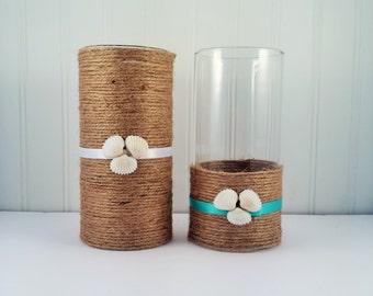 Beach Themed Centerpiece Vase