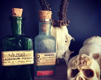 Poison Bottles / Victorian apothecary /vignette pieces / home decor / bohemian decor / poison bottle