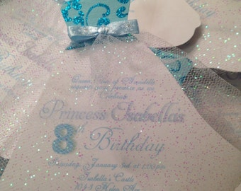 Princess Frozen INSPIRED birthday party invitations/announcements-Anna & Elsa