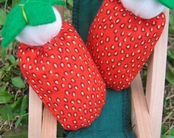 Mini Waldorf Strawberry Dolls