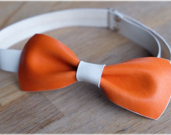 LK Leather bow-tie