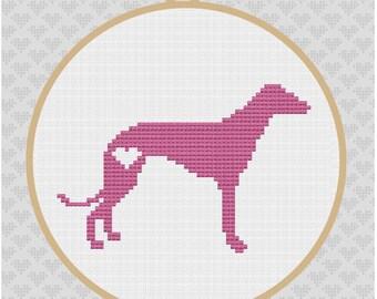 Greyhound Silhouette Cross Stitch Pattern