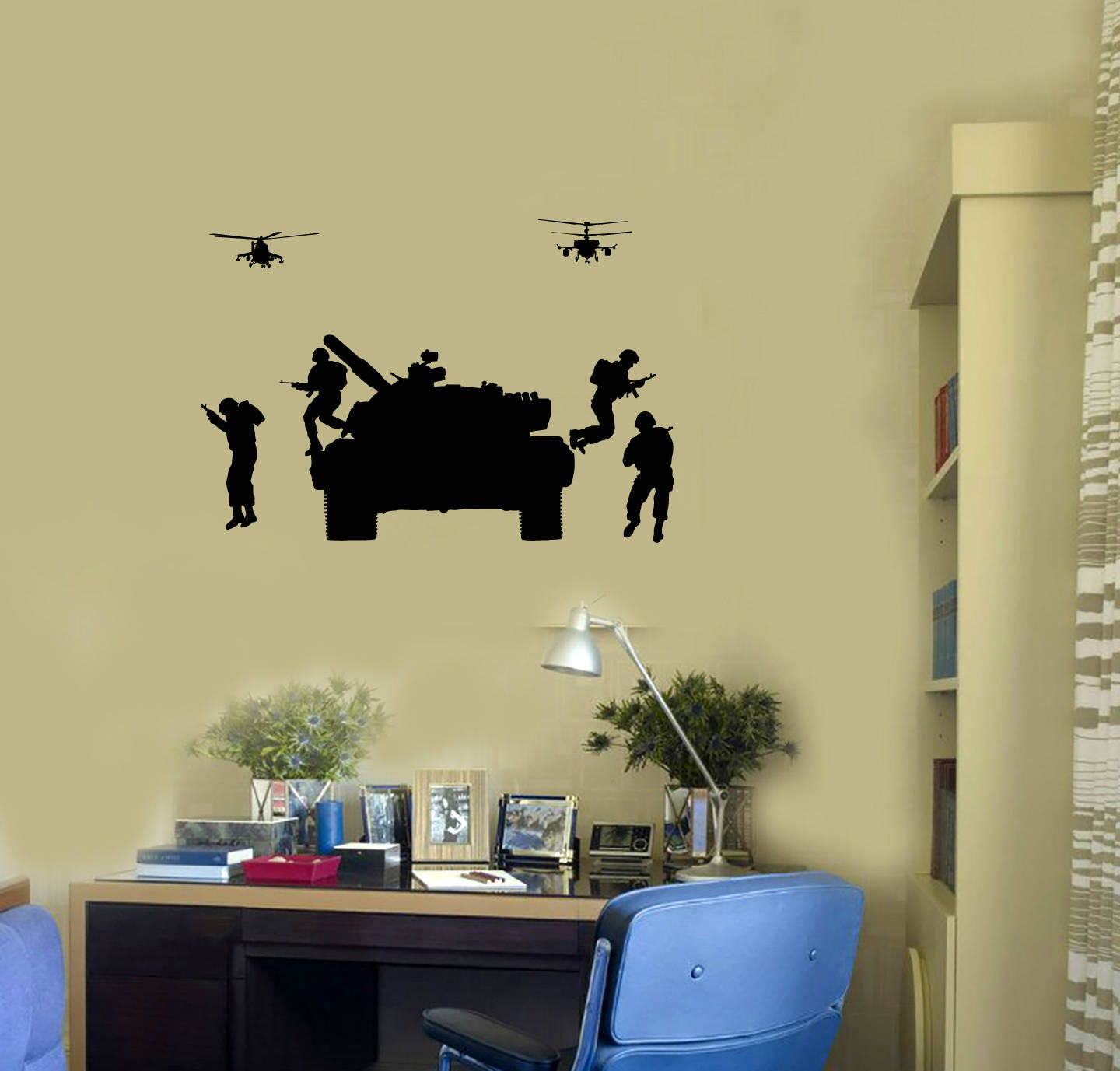 Modern Helicopter Wall Decor Embellishment - Art & Wall Decor ...
