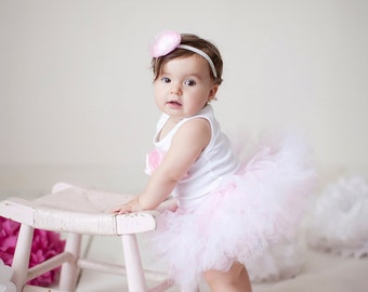 Pink Ballerina Birthday Tutu | Pink Cake Smash Dress Outfit | Pink Birthday Tutu