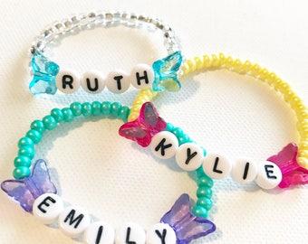 Kids easter gift etsy easter basket stuffers toddler bracelet personalized kids easter gifts toddler friendship bracelets negle Images