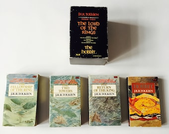 Lord of the Rings JRR Tolkien The Hobbit The United Kingdom's Edition Vintage 4 Book Set