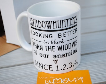 Shadowhunters Looking better in black than the widows of our enemies Shadowhunters mug cup