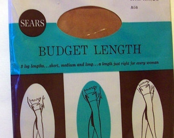 Vintage  Seamless Nylon Stockings 1960 New in Package  bx1  87805431  Free Shipping in USA