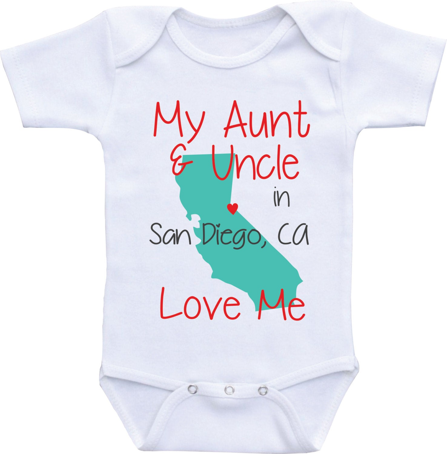 Aunt and Uncle Baby Clothes My Uncle and Aunt Love Me esie