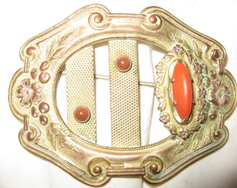 SALE Victorian Nouveau Transition Sash Pin Brooch,  Ornate Antique Victorian Nouveau Transition Sashpin Brooch Sash Pin Jewelry