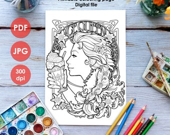 Frozen Coloring Pages Pdf Download : Cheshire cat colouring page printable coloring page adults