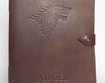 Handmade leather notepad - Game of Thrones Winter is coming