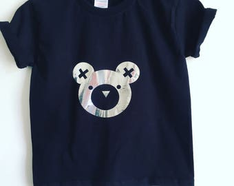 T-shirt, silver bear, cotton