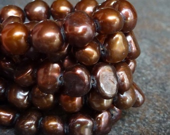 Pearls Copper Chocolate Brown Earth Tones 5mm 6mm