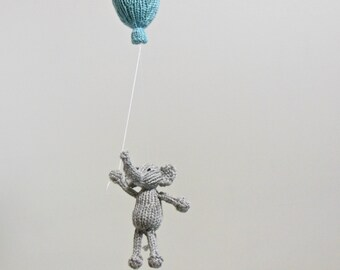 Elephant Baby Mobile, Balloon Mobile, Elephant Nursery Mobile, Elephant Nursery Mobile, Balloon Hanging Mobile, Baby Mobiles, Traveler