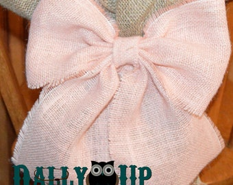 Wedding bow, burlap bow, Rustic bow, Country bow, Bow, Burlap bows, Wreath bow, Wreath bows, Wedding pew bow, Chair bow, pew bow, bows