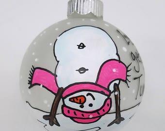 Gymnast Ornament - Gymnastics Team Gift - Gymnastics Ornaments - Gymnastics Gift - Gift For Gymnast - Tumbling Ornament - Snowman Ornament