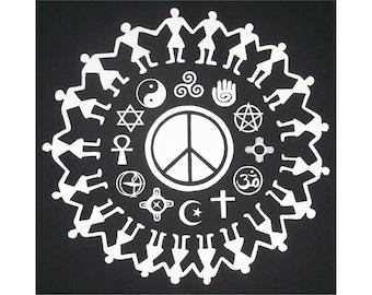 Coexist Religious Tolerance Peace T-Shirt WH Closeout