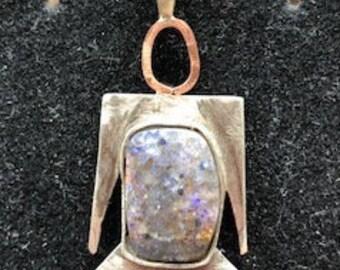 Louisiana Opal Burning Man Pendant