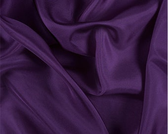 Grape Silk Crepe de Chine, Fabric By The Yard