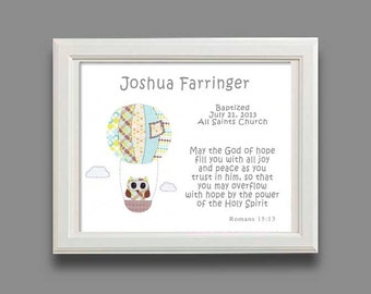 Baptism gift christening gifts for boys baby boy baptism gift christening gift baby boy personalized print owl nursery decor hot negle Gallery