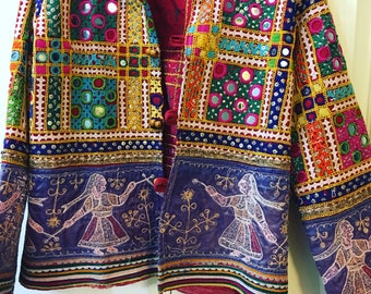 Female jacket bohemian hippie tribal rajasthani jacket