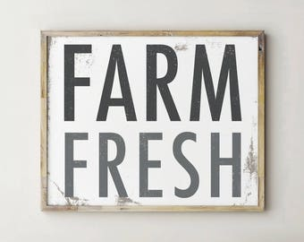 Printable Farm Fresh Sign, Printable Farmhouse Sign, Farm Fresh Sign, Farmhouse Kitchen Decor, Farmhouse Decor, Farmhouse Sign, Farmhouse