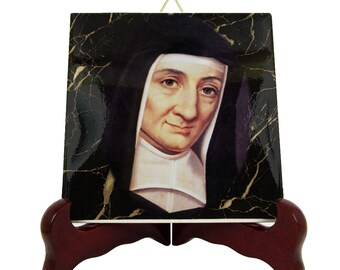 Saint Louise de Marillac - St Louise ceramic tile - catholic saints serie - St Louise icon - saint art