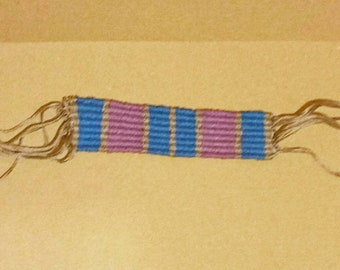 Custom handwoven bookmark