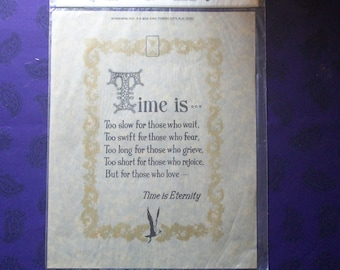 Time is eternity decoupage print