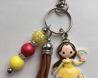 Belle Inspired Keychain/Bookbag Charm