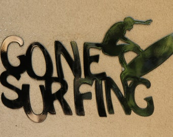 Gone Surfing Wall Sign