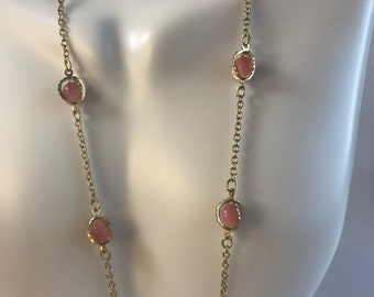 Victorian Pink Stone Necklace