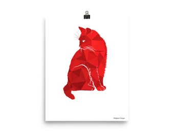 Abstract Cat Poster!