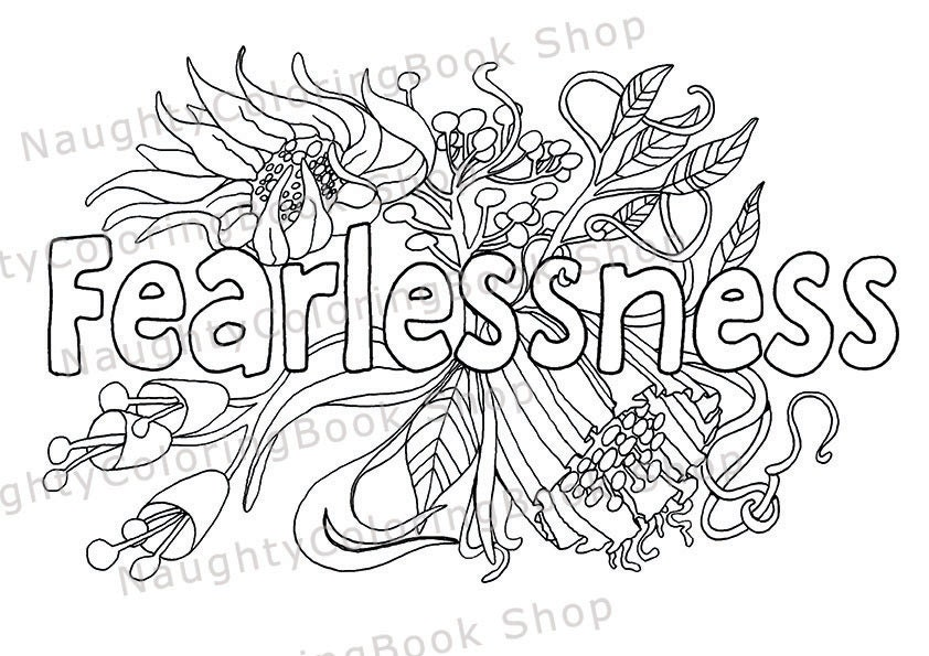 Fearlessness Coloring Page Law Of Attraction Positive