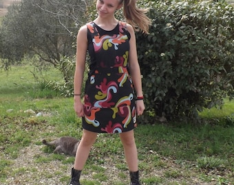 "Colorful ""Mandine"" overalls dress"