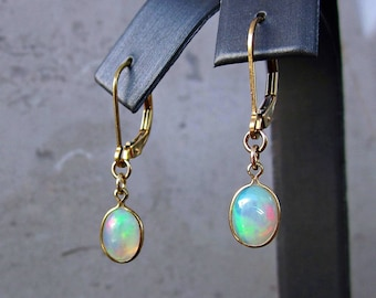 Genuine Fire Opal Earrings, Christmas Jewelry Gifts, October Birthstone Jewelry, Natural Opal Jewelry, Colorful Opal Jewelry, Holiday Gifts